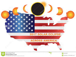 Usa Map Vector by 2017 Solar Eclipse Across Usa Map Vector Illustration Stock Vector
