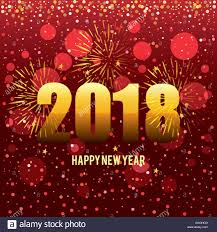 happy new year post card happy new year 2018 postcard vector illustration design stock