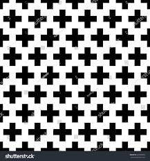 crosses wallpaper repeated black figures on stock vector 627803558