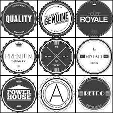 retro design labels and badges set vector free download