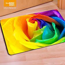 Floor Carpets Aliexpress Com Buy Hugsidea Rectangle Floral Print Felt Rubber