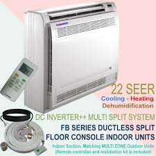 mitsubishi mini split floor unit multi zone split inverter system indoor fan coil sections