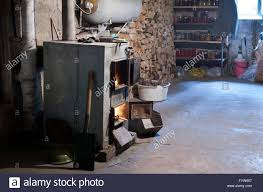 house cellar interior with pantry in the country home the stock