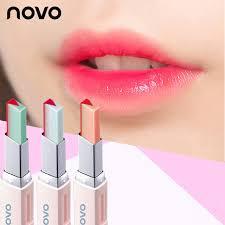 novo gradient lipstick double color lip balm two color tint lip