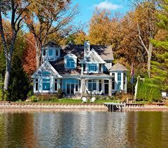 cape cod shingle style lake home victorian exterior detroit