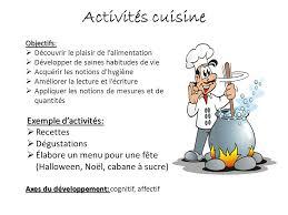 activité cuisine activit cuisine cuisine amnage et quipe duune manire optimale