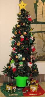 mario bros perler bead tree topper and