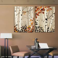 decor painting modern home decor abstract tree painting birch trees paintings
