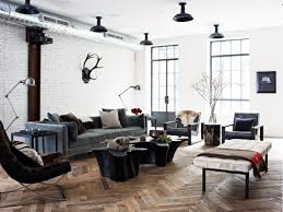 industrial organic nyc loft lofts industrial and living rooms