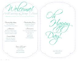 Printable Wedding Programs Free 100 Bi Fold Wedding Program Template 20 Elegant Wedding