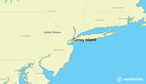 island on map where is coney island ny where is coney island ny located in