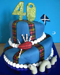 Scottish Pirate Flag Scottish Wonky Cake With Bag Pipes Nessy And Scottish Flag All