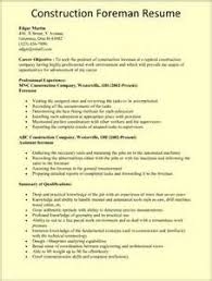 carpenter resume example template construction superintendent