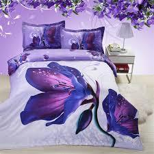Queen Bedding Sets For Girls by Online Get Cheap Purple Flower Comforter Aliexpress Com Alibaba