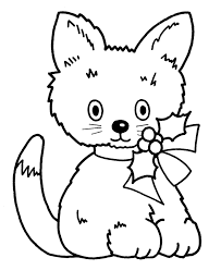learning christmas coloring pages christmas kitty