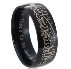 round steel rings images Muslim allah shahada stainless steel ring for women men islam jpg