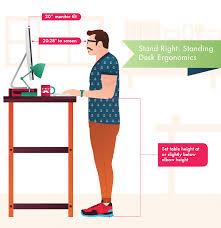 Ergonomic Desk Position Stand Right Standing Desk Ergonomics Furniture Awesome