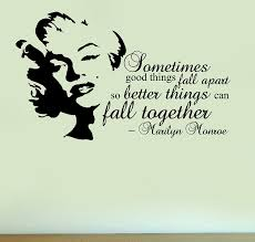marilyn monroe fall together quote vinyl wall art sticker home