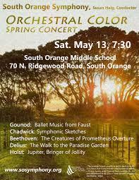 south orange symphony spring concert the village green