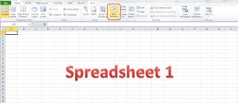 how do i view two sheets of an excel workbook at the same time