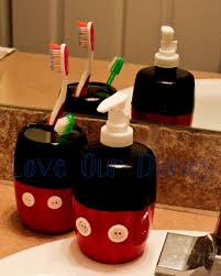Disney Home Decorations by Bathroom Mickey Mouse Home Decor Mickey Mouse Toothbrush Holder