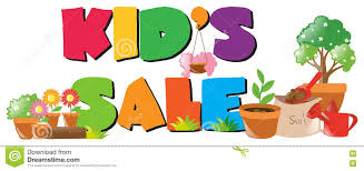 Flower Pot Sale Kids Sale Sign With Lots Of Flower Pots Stock Vector Image 79622150