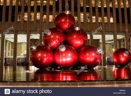 big balls as ornaments for the tree as an