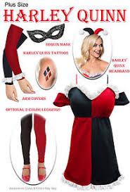 Halloween Costume Harley Quinn Harley Quinn Size Halloween Costume 0x 1x 2x 3x 4x 5x 6x 7x