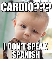 Speak Spanish Meme - cardio sceptical baby meme on memegen