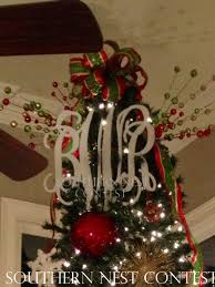 we used our southern nest monogram as our tree topper in our