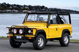 land rover yellow 1994 land rover defender 90 for sale silver arrow cars ltd