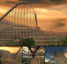 The Goliath Six Flags Thrill Seekers Virtual Ride On Highest Ranked Roller Coasters In