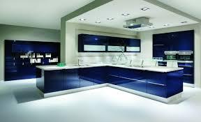 K Hen Hochglanz G Stig Best Küche Blau Grau Contemporary House Design Ideas