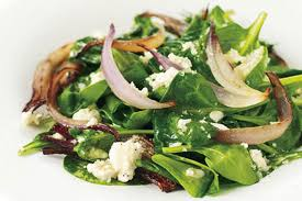 wilted spinach salad with warm feta dressing recipe epicurious