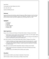 Social Work Resume Click Here To Download This Family Services Worker Resume Template