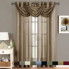 Crushed Voile Sheer Curtains by Abri Grommet Crushed Sheer Window Treatments Panel Or Valance