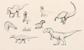fred wierum dinosaur sketches