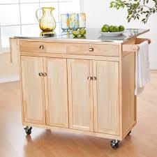 small kitchen island cart oak wood nutmeg shaker door small kitchen island cart