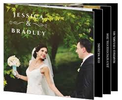 formal black and white wedding booklet thank you wedding thank