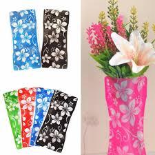 2pcs sale plastic unbreakable foldable reusable vase flower