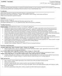 Examples Of Teaching Resumes by Resume Career Objective Examples Teacher