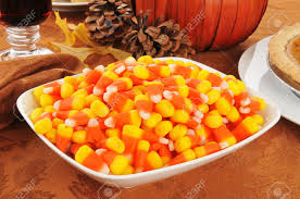 thanksgiving treats a bowl of candy corn with other halloween or thanksgiving treats