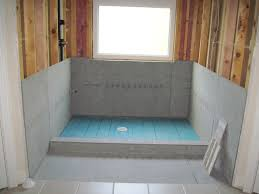 cement board and shower pan master bathroom renovation project cement board and shower pan