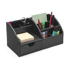 Desk Organizer Leather Osco Faux Leather Desk Organiser Black Co Uk Office