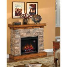 Electric Fireplace With Mantel Flagstone Electric Fireplace Mantel