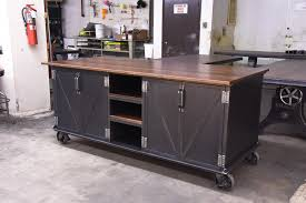walnut ellis kitchen island u2013 model e52 u2013 vintage industrial