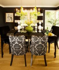 dining room classy small dining room with damask chairs also