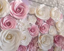 wedding backdrop paper flowers flower backdrop etsy