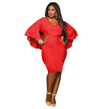 women plus size bodycon batwing mini evening party cocktail formal
