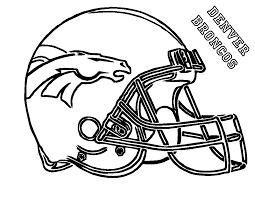 football helmet coloring pages denver broncos coloringstar